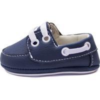 Sapato Bebê Cla Cle Cc Be07 Azul/Branco