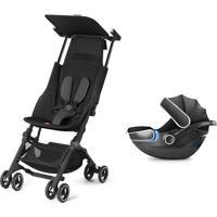Carrinho De Bebê Pockit Plus Com Bebê Conforto Idan Gb Preto