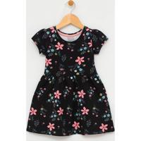 Vestido Infantil Estampado - Tam 1 A 4