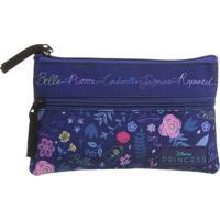 Nécessaire Floral Princess®- Roxo Escuro & Azul- 13Xdermiwil