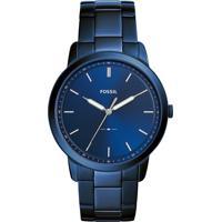 Relógio Analógico Fossil Masculino - Fs54611An Azul Escuro