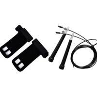 Kit Crossfit Corda De Pular Speed + Luva Hand Grip Couro (Par) - Unissex