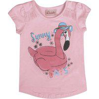 Blusa Duduka Bebê Menina Flamingo Rosa