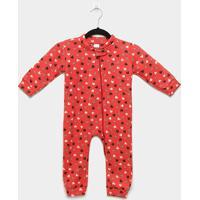 Macacão Bebê Candy Kids Pijama Soft Zíper - Feminino-Rosa