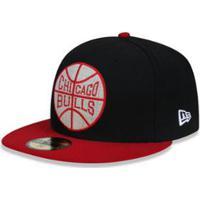 011526e99b40d ... Boné 5950 Chicago Bulls Nba Aba Reta New Era - Masculino-Preto
