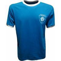 Camisa Liga Retrô Finlandia 1970 - Masculino-Azul Royal
