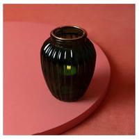 Luminária Porta-Vela Vidro Metal Cor: Verde - Tamanho: Único
