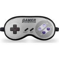 Máscara De Dormir Em Neoprene Gamer Joystick 16-Bits Geek10 - Cinza