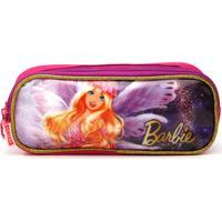 Estojo Sestini 2 Compartimentos Barbie Dreamtopia Rosa/Roxo