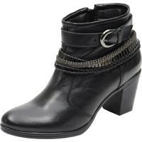 Bota Country Escrete Boots Em Couro Preta