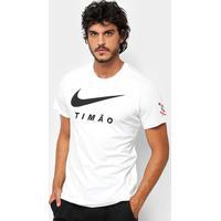 Camiseta Corinthians Nike Large Swoosh Masculina - Masculino