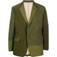 Comme Des Garçons Homme Patchwork Effect Jacket - Verde