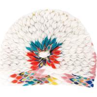 Missoni Headband De Tricô - Branco