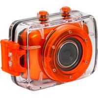 Câmera Filmadora Vivitar De Ação Hd Com Caixa Estanque E Acessórios Dvr783Hd Laranja