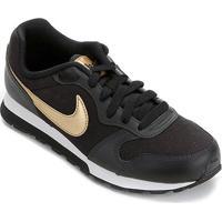 Tênis Infantil Nike Md Runner 2 Vtb (Gs) - Feminino-Preto+Prata