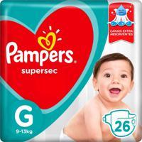 Fralda Pampers Supersec Tamanho G 26 Tiras