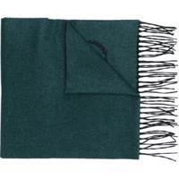 Dolce & Gabbana Cachecol De Cashmere E Seda Com Franjas - Green