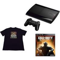 Console Playstation 3 500Gb Nacional + Jogo Call Of Duty: Black Ops Iii + Camiseta Call Of Duty: Black Ops Iii