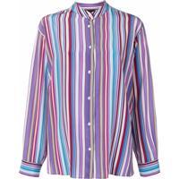 Aspesi Camisa Com Detalhe De Listas - Roxo