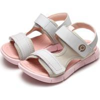 Sandália Ortopé Menina Velcro Branca
