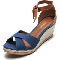 Sandália Dafiti Shoes Transpasse Azul-Marinho