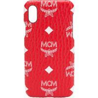 Mcm Capa Para Smartphone Com Logo - Vermelho