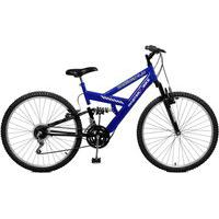 Bicicleta Master Bike Aro 26 Masculina Kanguru Style 21 Marchas Azul