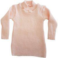 Blusa Cacharrel De Tricô Infantil 0 A 12 Coral