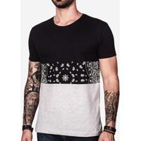 Camiseta Recorte Bandana 100725