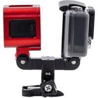 Adaptador E Suporte Duplo Para Duas Câmeras Em Alumínio Para Gopro Hero Sjcam Xiaomi - Unissex