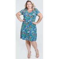 c619f1df2f ... Vestido Feminino Estampa Floral Plus Size Marisa