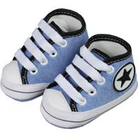 Tênis Cano Alto De Bebê Jeans Star Jeans - Tricae