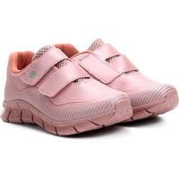 Tênis Infantil Ortopé Nylon Sport Kids Com Velcro - Masculino-Pink