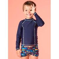 Camiseta Infantil Puket Básica Lisa - Masculino-Marinho