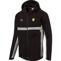 465894795 Netshoes; Jaqueta Puma Scuderia Ferrari Hooded Sweat Masculina - Masculino