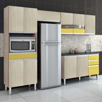 Cozinha Compacta Turmalina 11 Pt 3 Gv Teka Com Amarelo