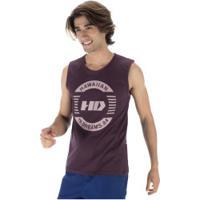 Camiseta Regata Hd Logo - Masculina - Vinho