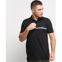 Camisa Polo Nicoboco Slim Fit Lochalsh Masculina - Masculino-Preto