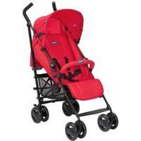 Carrinho De Bebê Passeio Chicco London Passion Reclinável 4 Posições - Unissex-Vermelho