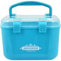 Caixa Organizadora Pequena- Incolor & Azul- 16X14X12Jacki Design