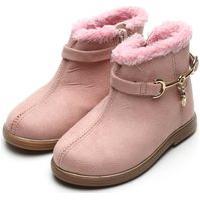Bota Molekinha Infantil Camurça Rosa