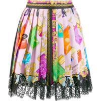Versace Saia Com Estampa Barroca - Rosa