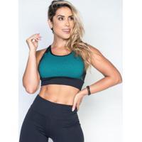 Top Honey Be Fitness Poliamida Relevo Feminino - Feminino