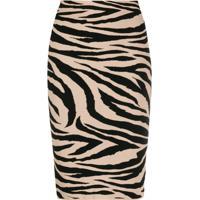 Laneus Tiger Print Skirt - Rosa