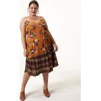 Vestido Midi Floral Curve & Plus Size