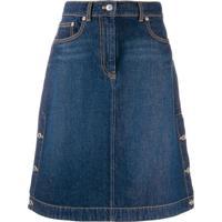 Kenzo Saia Jeans Cintura Alta - Azul