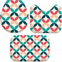 Jogo Tapetes Love Decor Para Banheiro Abstrato Multicolorido Único