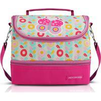 Lancheira Térmica Infantil Jacki Design Borboleta 2 Compartimentos Feminina - Feminino-Pink