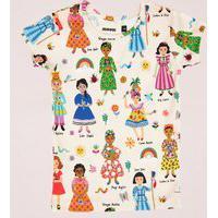 Amaro Feminino Mooui Conjunto Pijama Infantil, Mulheres Do Mundo