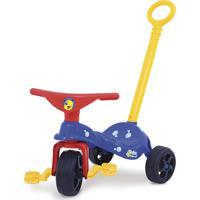 Triciclo Peixinho Com Empurrador Azul Xalingo